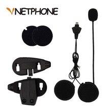 2017 Лидер продаж Каско Capacete микрофон динамики гарнитуры и шлем кронштейн клип для мотоцикл Bluetooth домофон Vnetphone V5
