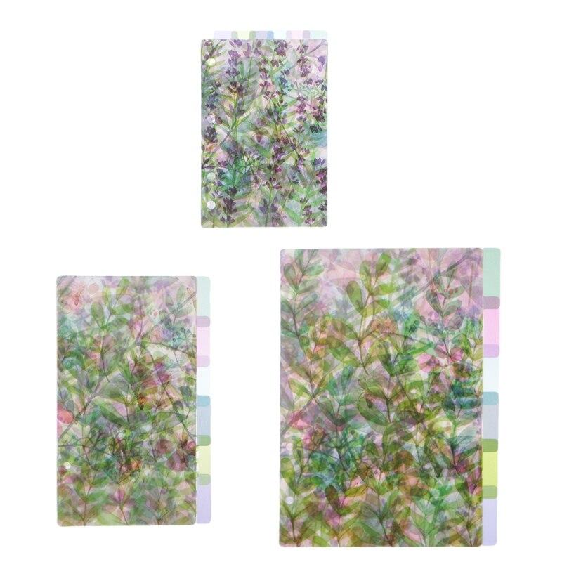 A5 A6 A7 рисунками из мультфильмов прозрачный разделитель индекс страниц доска для сортировки по цвету для детей возрастом от 6 отверстия связующего