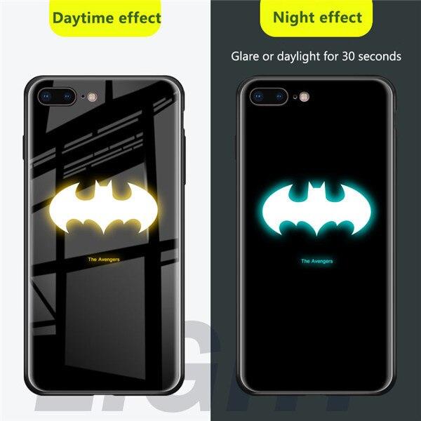 Чехол из закаленного стекла для iPhone X, XS, MAX, XR, 10, 6 S, 7, 8 Plus, 7 Plus, 8 Plus, 11 PRO, чехол для телефона с Бэтменом - Цвет: BATMAN