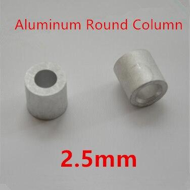 200 Stks/partij 2.5mm Aluminium Ronde Draad Touw Adereindhulzen Ronde Gat Aluminium Spacer Aluminium Clip Modern En Elegant In Mode