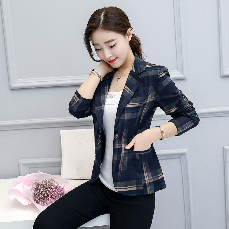 99c24b741c7a1 Neploe Elegant Short Blazer 2018 Spring Single Button Long Sleeves ...