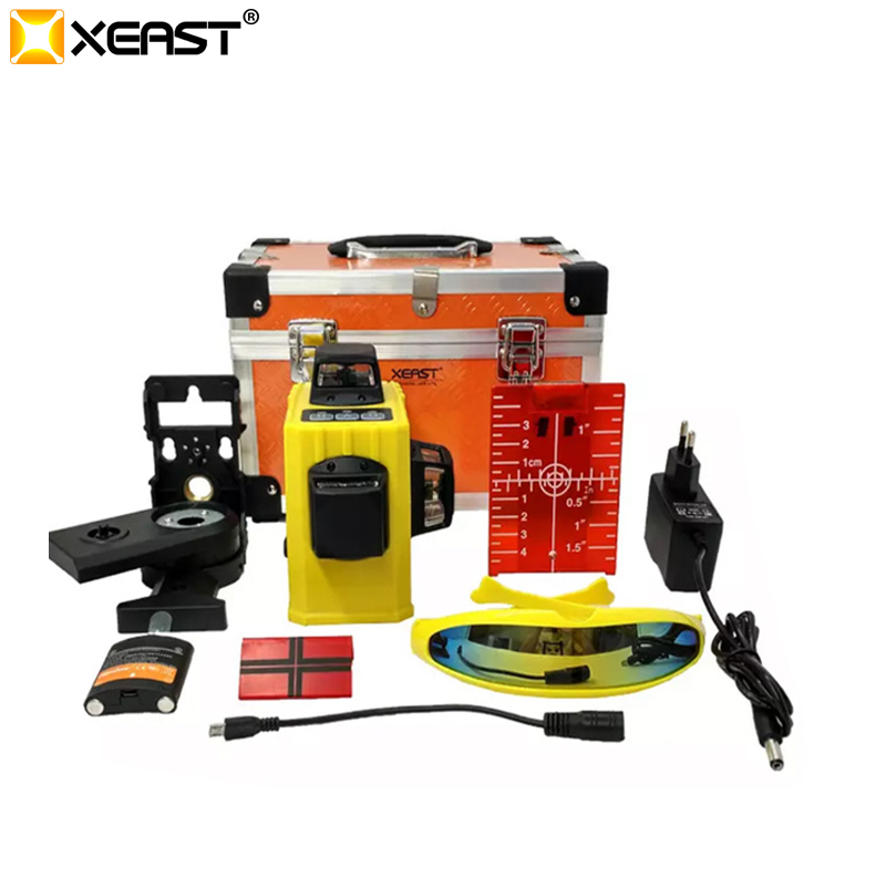 XEAST XE 61A 12 lines laser level 360 Self leveling Cross Line 3D Laser Level Red