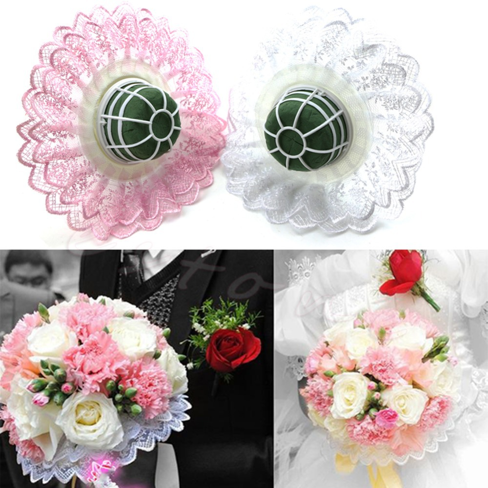 Set Of 10 Country Garden Flower Seed Wedding Favours With: HOT 1 Set Of Wedding Bride Bridal Flower Bouquet Handle