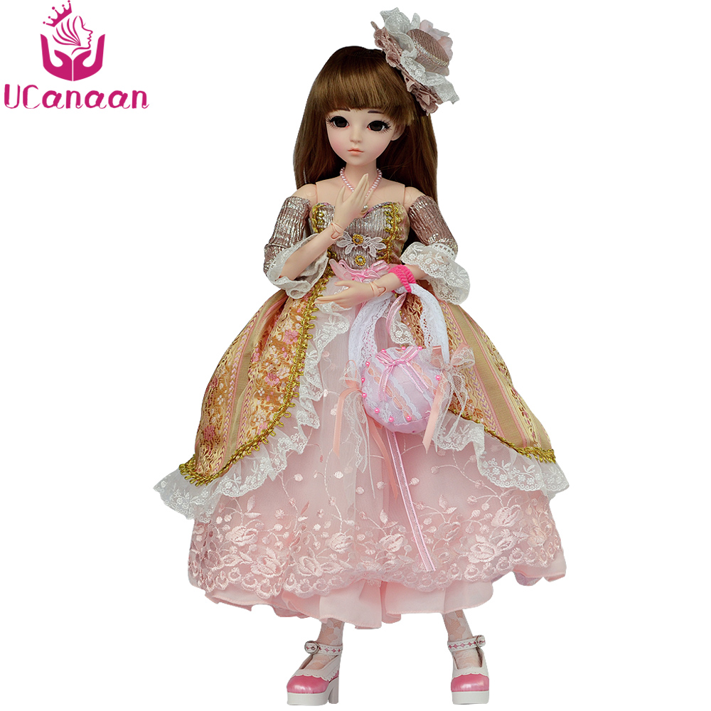 UCanaan 1/3 BJD Doll 18 Ball Jointed Dolls Full Set Makeup SD Doll Beauty Handmade Toys for Girls Gift Collection shengboao 1 3 female bjd dolls full set makeup sd doll 18 ball jointed dolls beauty handmade toys for girls gift