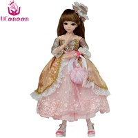 UCanaan 1/3 BJD Doll 18 Ball Jointed Dolls Full Set Makeup SD Doll Beauty Handmade Toys for Girls Gift Collection