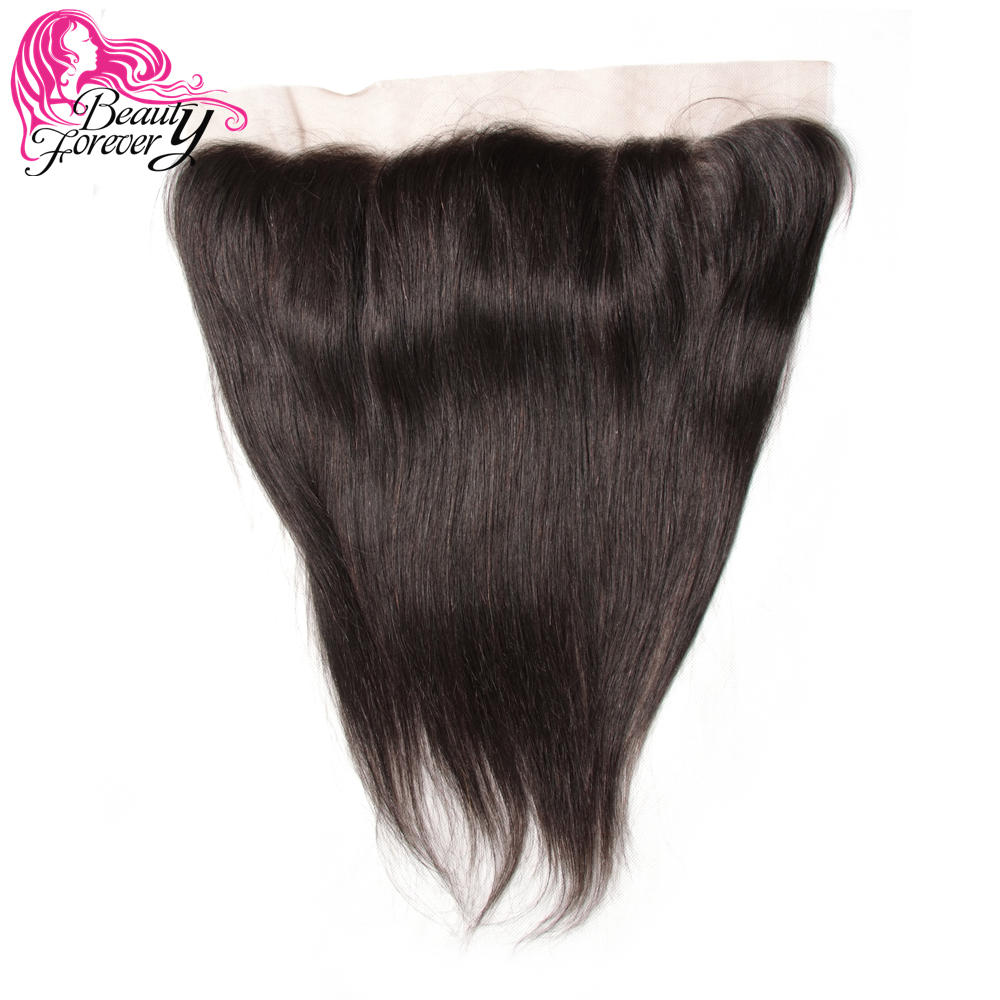 Beauty Forever 13 4 Lace Frontal Closure Straight Brazilian Hair Free Part Ear to Ear 100