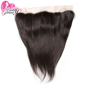 Image 1 - Beauty Forever 13*4 Lace Frontal Straight Brazilian Hair Free Part Ear to Ear 100% Remy Human Hair Lace Frontal