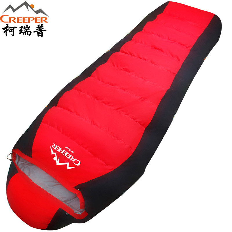 Creeper Sleeping bag outdoor down mummy winter thick camping-20 warm camping white duck down sleeping bag Dropshipping outdoor adult sleeping bag thick down sleeping bag 20 degrees celsius winter duck down warm sleeping bags