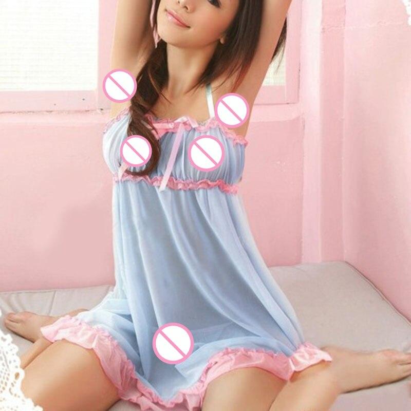 Buy Hot Erotic Women Lace Dress Sexy Lingerie Babydoll Sleepwear Underwear Nightwear G-String Babydoll Lingerie Teddy Underwear