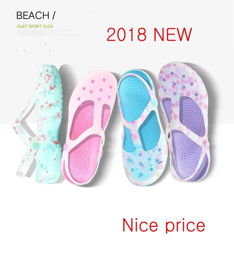 2018 Slip auf Casual Garten Clogs Wasserdichte Schuhe Frauen Klassische Pflege EVA Clogs Krankenhaus Frauen Arbeiten Medizinischen Sandalen für Mädchen