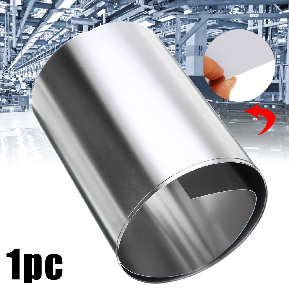1pc 0.2mm Thickness 304 Stainless Steel Fine Plate Sheet Foil 100mm x 1m Silver For Hardware Parts