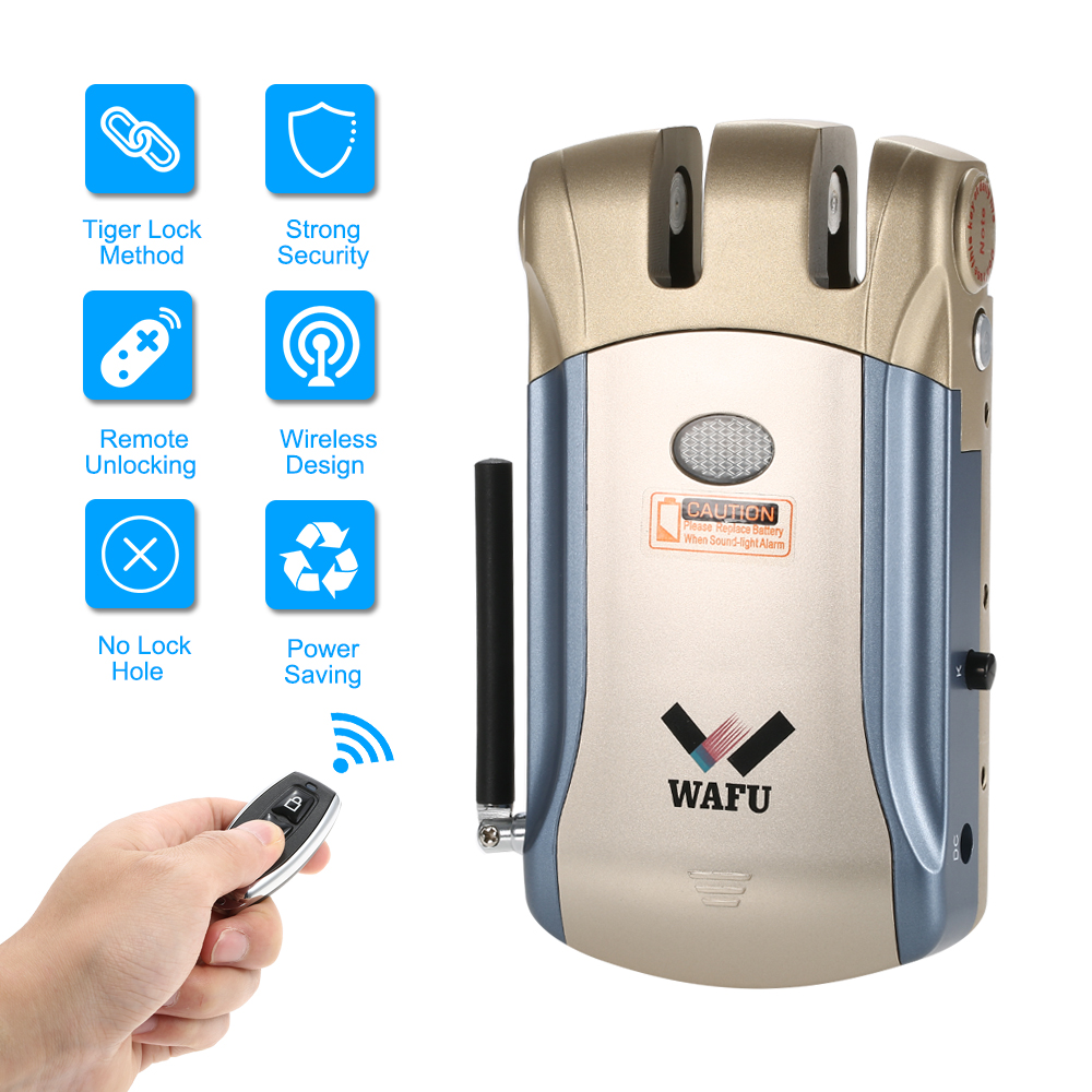 2018 New Wireless Remote Control Electronic Lock Invisible