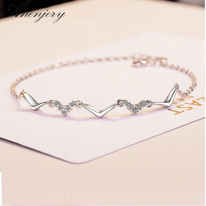925 Sterling Silver Wave Bracelet