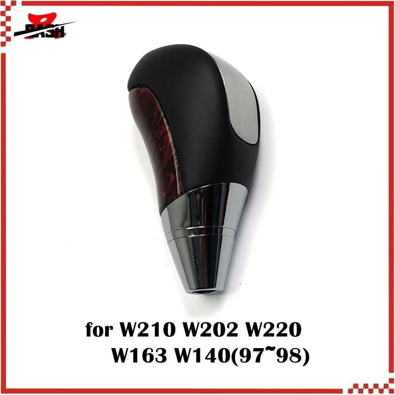 DASH Free Shipping Gear Shift Knob for Mercedes W202 W210 W220 W163 W140 Manual Wood black