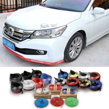 CDCOTN Upgrade 2.5m Car Front Lip Bumper strip bumper protector Auto Products Sticker Styling Accessorie Door Protector