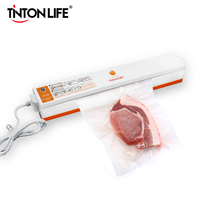 TINTON LIFE 110V 220V Household Food Vacuum Sealer Packaging Machine Vacuum Packer Film Sealer Including 15Pcs