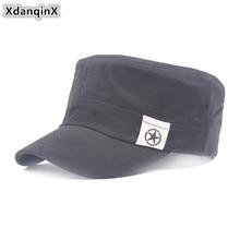 купить XdanqinX Men's Cap Fashion Cotton Army Military Hats NEW Male Bone Brand Visor Hat Adjustable Size Snapback Flat Caps For Men онлайн