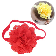 Baby Kids Girls Lace Flower Hairband Headband Dress Up Head band Children hollow flower hair