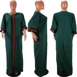 Image 5 - Vestidos africanos para as mulheres 2019 verão outono listra impressão magro mangas compridas maxi vestido nova moda africano roupas de áfrica