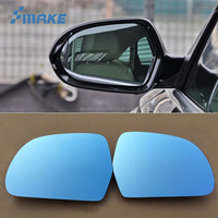 smRKE 2Pcs For Audi A6l Rearview Mirror Blue Glasses Wide Angle Led Turn Signals light Power Heating