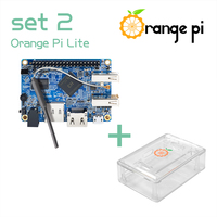 Orange Pi Lite SET2: OPi Lite 512MB + Transparent ABS Caes Support Android, Ubuntu, Debian
