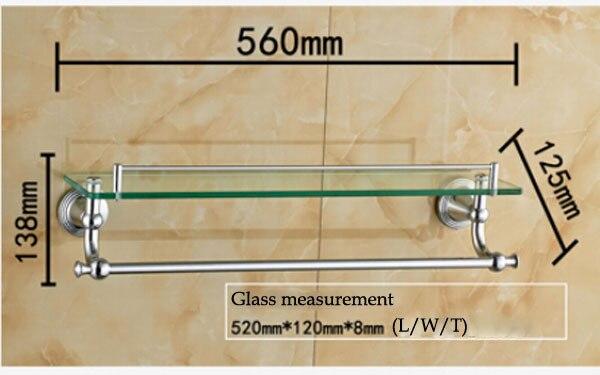 bathroom glass shelves with towel bar | My Web Value