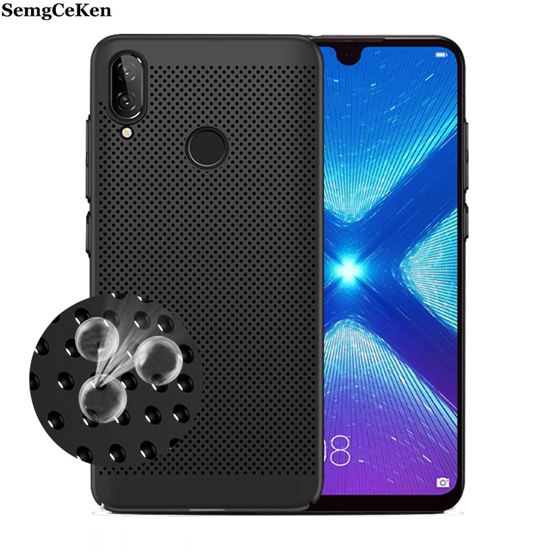 SemgCeKen Radiating Case For huawei Y7 Prime 2017 y6 pro <font><b>y5</b></font> y9 2018 <font><b>2019</b></font> <font><b>huawey</b></font> 3d Breathable heat Mesh Phone back coque Cover image