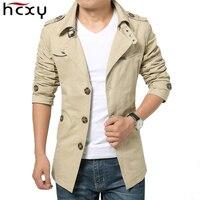 HCXY 2019 Spring Autumn Fashion Men's Windbreaker Men Jackets Slim Fit Outwear Jacket Coat Male Full cotton Free Shipping 5XL