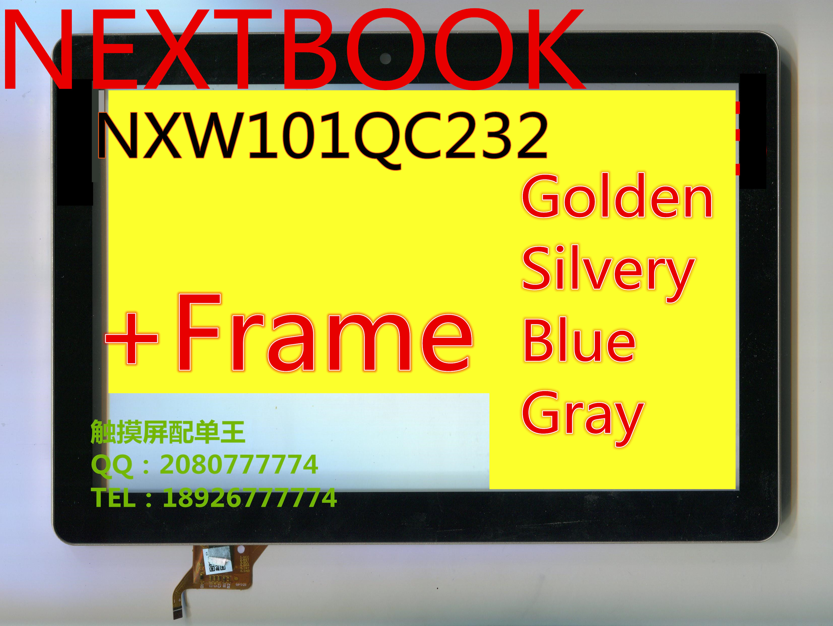 +FRAME 10.1inch for efun nextbook NXW101QC232 FPC-CTP-1010-086V2-1 capacitive touch screen glass digitizer panel