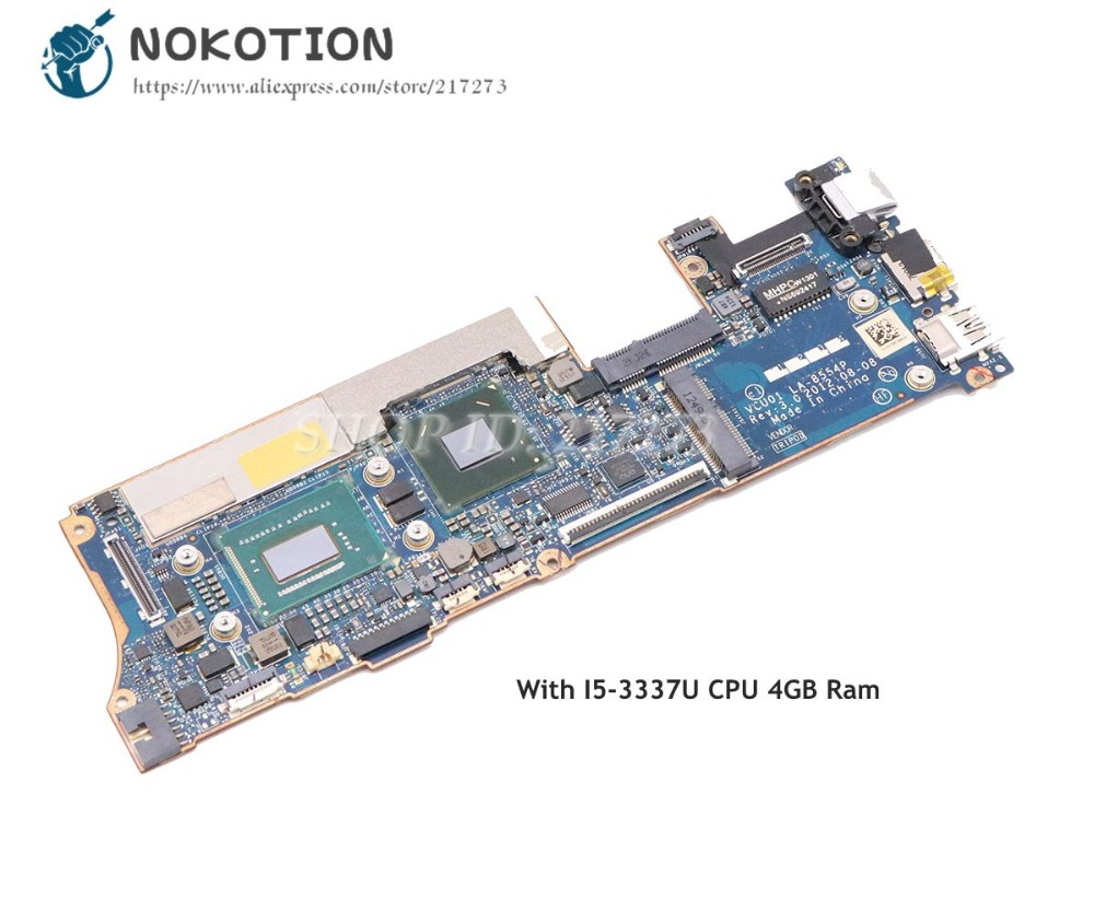 NOKOTION 714761-001 714761-501 714759-501 714759-001 For HP Spectre XT13 XT 13-2000 Laptop Motherboard VCU01 LA-8554P I5-3337UNOKOTION 714761-001 714761-501 714759-501 714759-001 For HP Spectre XT13 XT 13-2000 Laptop Motherboard VCU01 LA-8554P I5-3337U