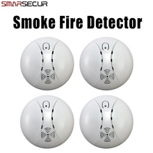 Wireless Smoke/Fire Detector for Wireless For Touch Keypad Panel Wifi GSM Home Security Burglar Voice Alarm System 120 wireless zones colorful display touch keypad gsm remote control alarm host panel for home security system