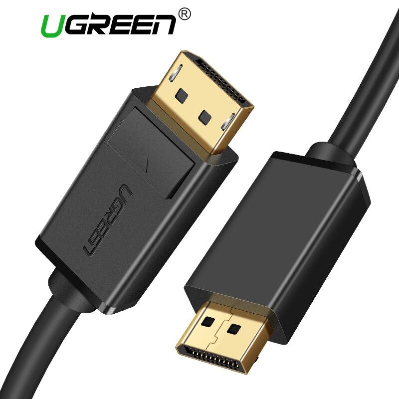 Ugreen Cabo DisplayPort 4 k 60 hz DP 1.2 Versão Cabo Ultra HD 3D Para HDTV PC Placas de vídeo Portátil projetor Cabo Displayport