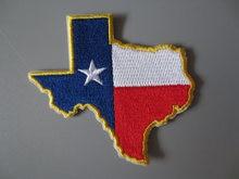 Изысканный вышитый флаг Техаса патчи для куртки задней части
