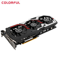 Original Colorful IGame1070 U 8GD5 Top 256bit GDDR5 Graphics Card GeForce GTX 1070 W HDMI/DVI/DP 1.4 Interface 3*8cm Large Fan