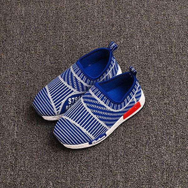 2016 Fashion Stripe Boys Girls Mesh Shoes Kids Sport Anti-Slippery Bottom Breathable Children School Shoe Size Free Shipping