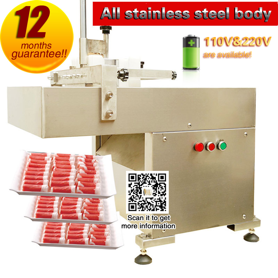 Food Processing Meat Slicer  Of Lamb,beef And Mutton Commercial Food Slicer Free Shipping