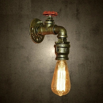 Loft Style Creative Water Pipe Lamp Industrial Vintage Wall Light Fixtures For Home Iron Edison Wall Sconce Lampara Pared