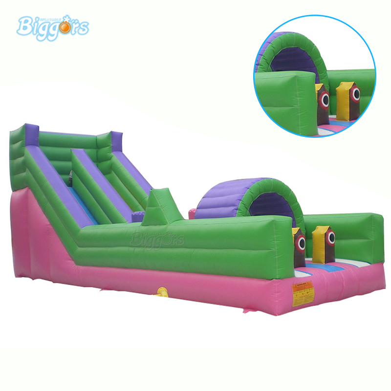 цена на Commercial Giant Inflatable Slide Obstacle Course Inflatable Bounce House With Blowers