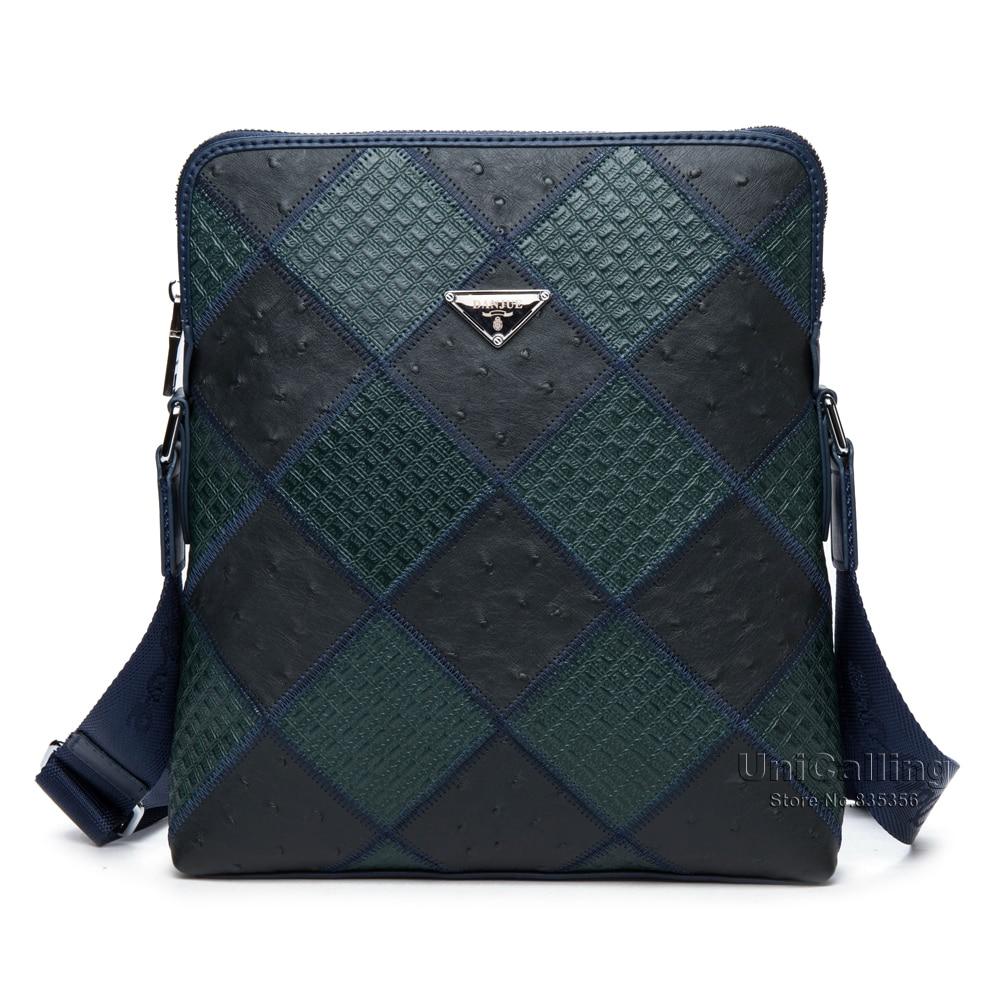 ФОТО Brand men casual leather shoulder bag trendy male patchwork fashion embossing genuine leather messenger bag brand bag