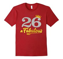 70383947 Men's 26 Years Old 26th Birthday Men T Shirts Queen 1991(China)