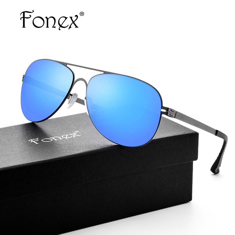 FONEX No Screw Hot Elastic My Germany Style Aviation Sunglasses Women Brand Designer Aviador Sun Glasses