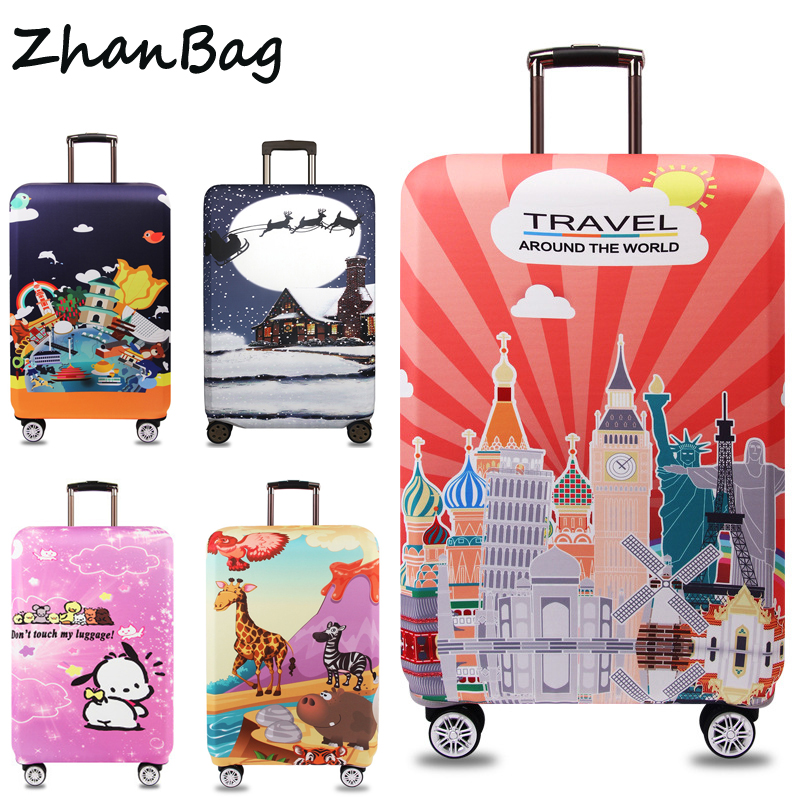 ZhanBag Elastic Thick Luggage Cover Apply to 18''-32'' Suitcase,Suitcase Protective Cover for Trunk Case Travel Accessories 302