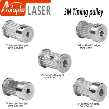 цена на CO2 Laser Metal Parts Synchronous HTD 3M Gear Pulley 6.35/8/12mm for DIY CO2 Laser Engraving Cutting Machine