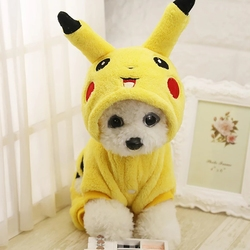 SUPREPET Cat Costume Cute Pet Clothes Pikachu Cosplay Clothing Autumn Winter Cat Coat Home Pajamas Puppy Hoodie Dog Coat