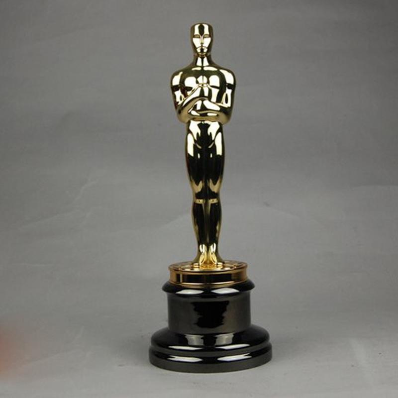 ogrm oscar trophy statue award gold plated 1 1 oscars statuette 100
