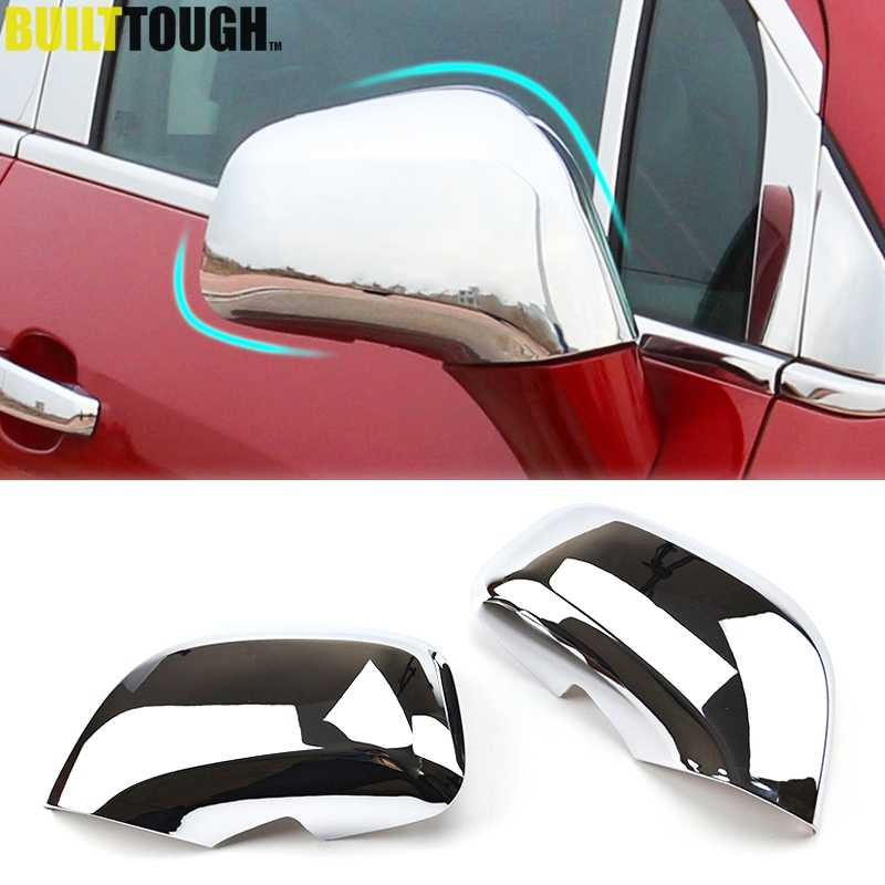 Chrome Rear View Side Door Mirror Cover Guarnição de Moldagem Cap Overlay Para Opel Vauxhall Mokka Buick Encore 2012-2018 2014 2015 2016