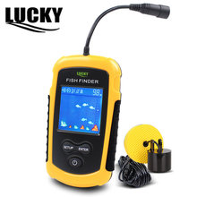 LUCKY Colors Display Portable fish finder echo sounder Alarm Transducer Fishfinder 0.7-100m fishing echo sounder(China)