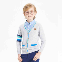 Kids Clothes Boy Sweater New Children Winter Cotton Knitting Cardigan Men Full Sleeve Solid Color Preppy Style Sweaters 50W0009