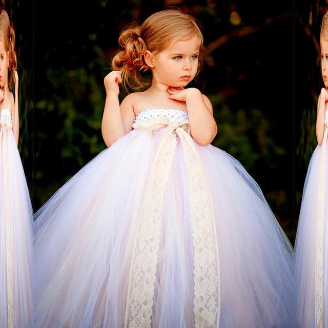 Cute Strapless Tulle Sweetheart New Sleeveless Flower Girl Dresses Size 2 3  4 5 6 7 5fe5a707d30d