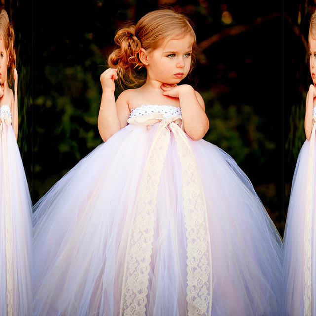 Cute Strapless Tulle Sweetheart New Sleeveless Flower Girl Dresses Size 2 3  4 5 6 7 7471c399c5a4